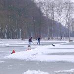 Foto voorbereiding ijsbaan