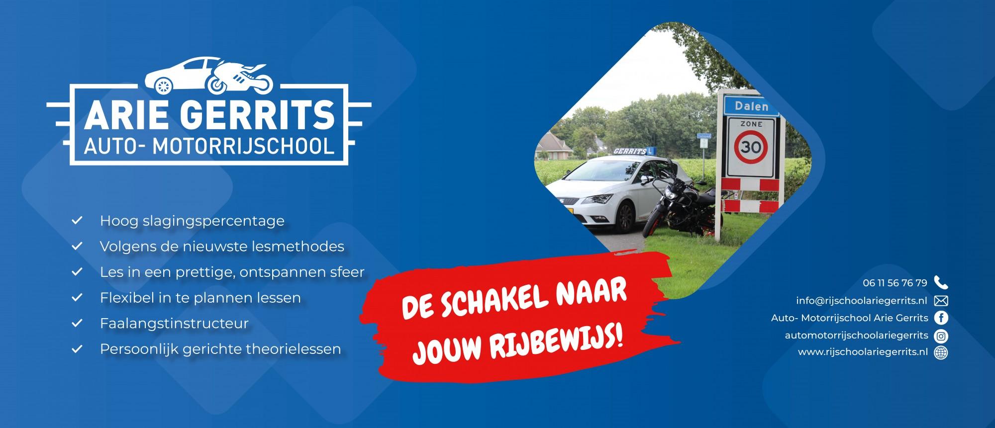 Logo autorijschool Arie Gerrits