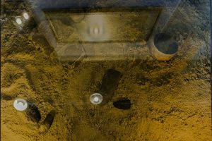 Foto gevonden stenen voorwerpen