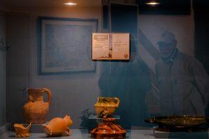 Foto vitrine collectie Aold Daoln