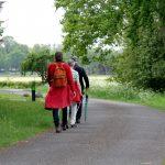 Foto van deelnemers aan het wandelweekeinde Dalen in mei 2019.