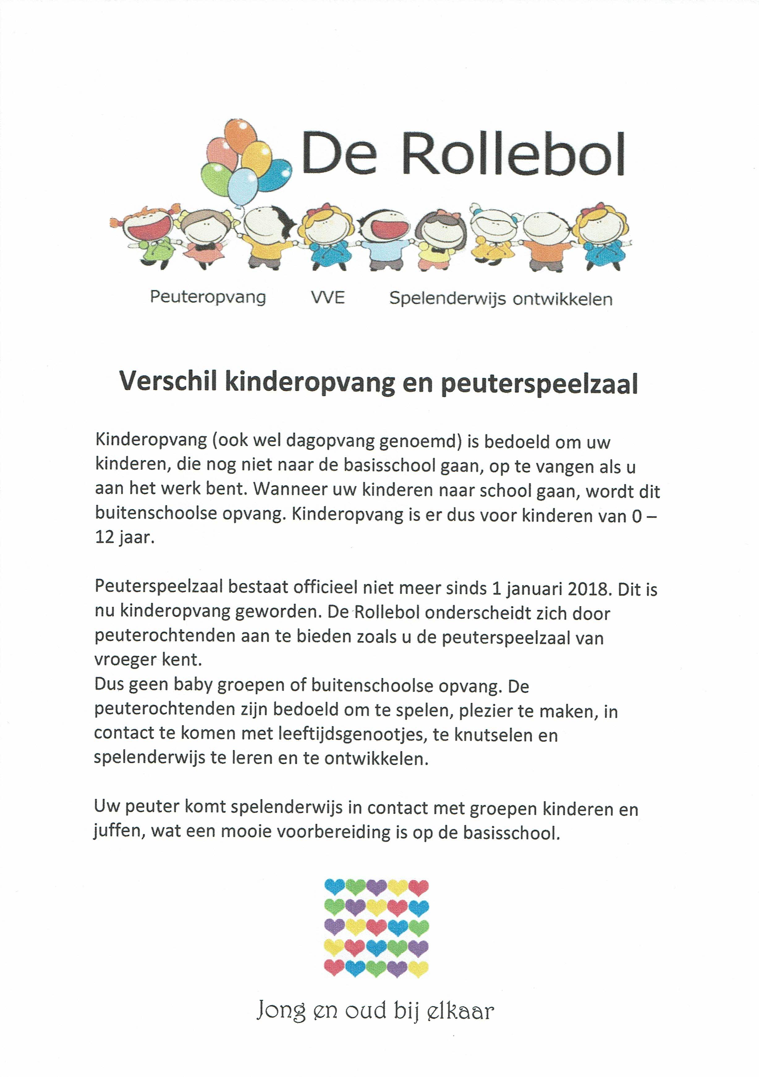 Flyer peutergroep Rollebol Dalen