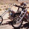 Foto Motortoerclub Dalen met twee motoren uit Easy Rider