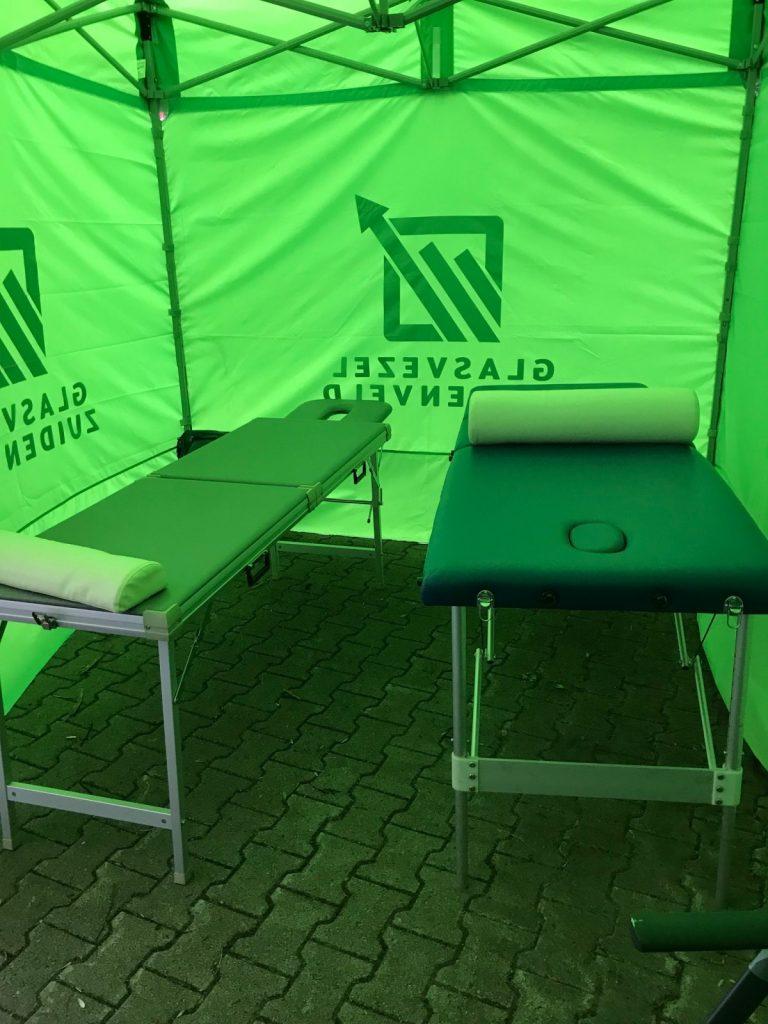 Foto Basiskamp Bremen Roparun massagebanken