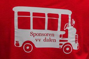 Foto sponsorvlag promotiewedstrijd VV Dalen naar de 2e klasse