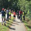 Foto lopers en fietsers Roparun 2019 zondagochtend