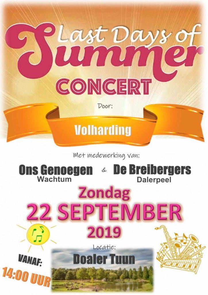 foto poster concert door Volharding in Doaler Tuun