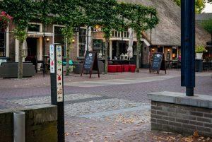 Foto paaltje met de 4 wandelroutes in Dalen bij de start