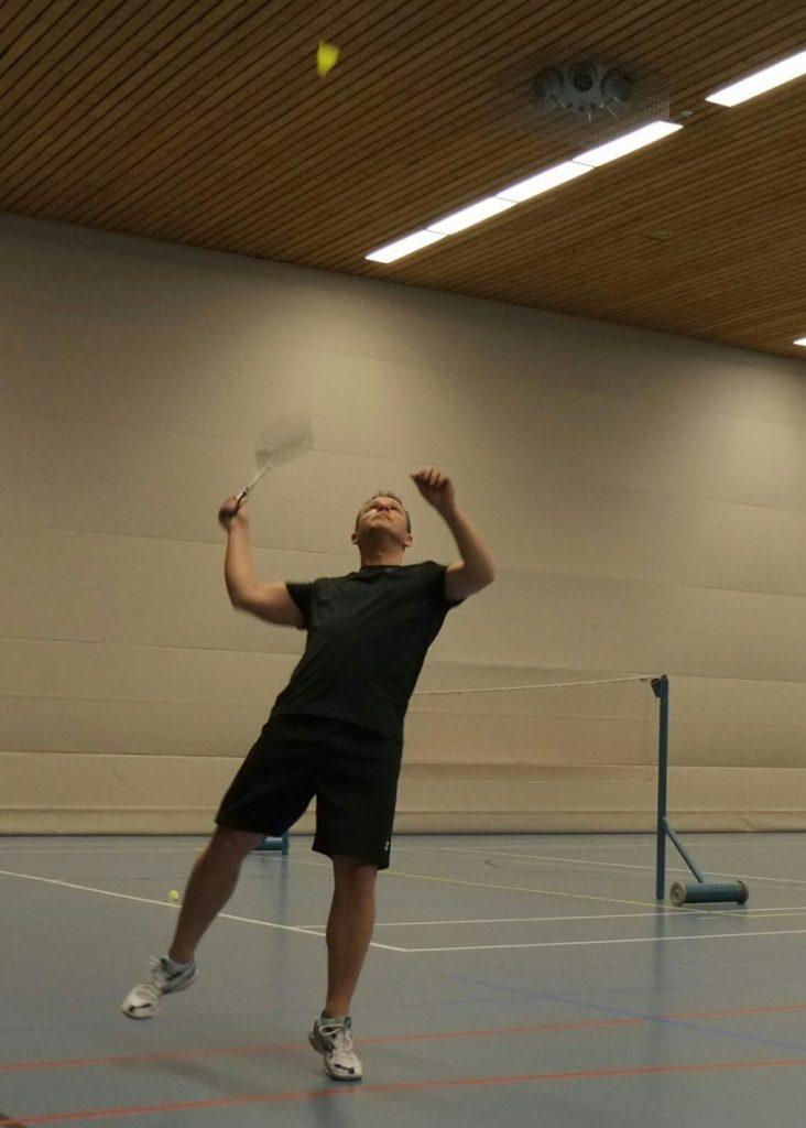 Foto badmintonspeler