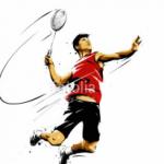 Afbeelding badmintonspeler