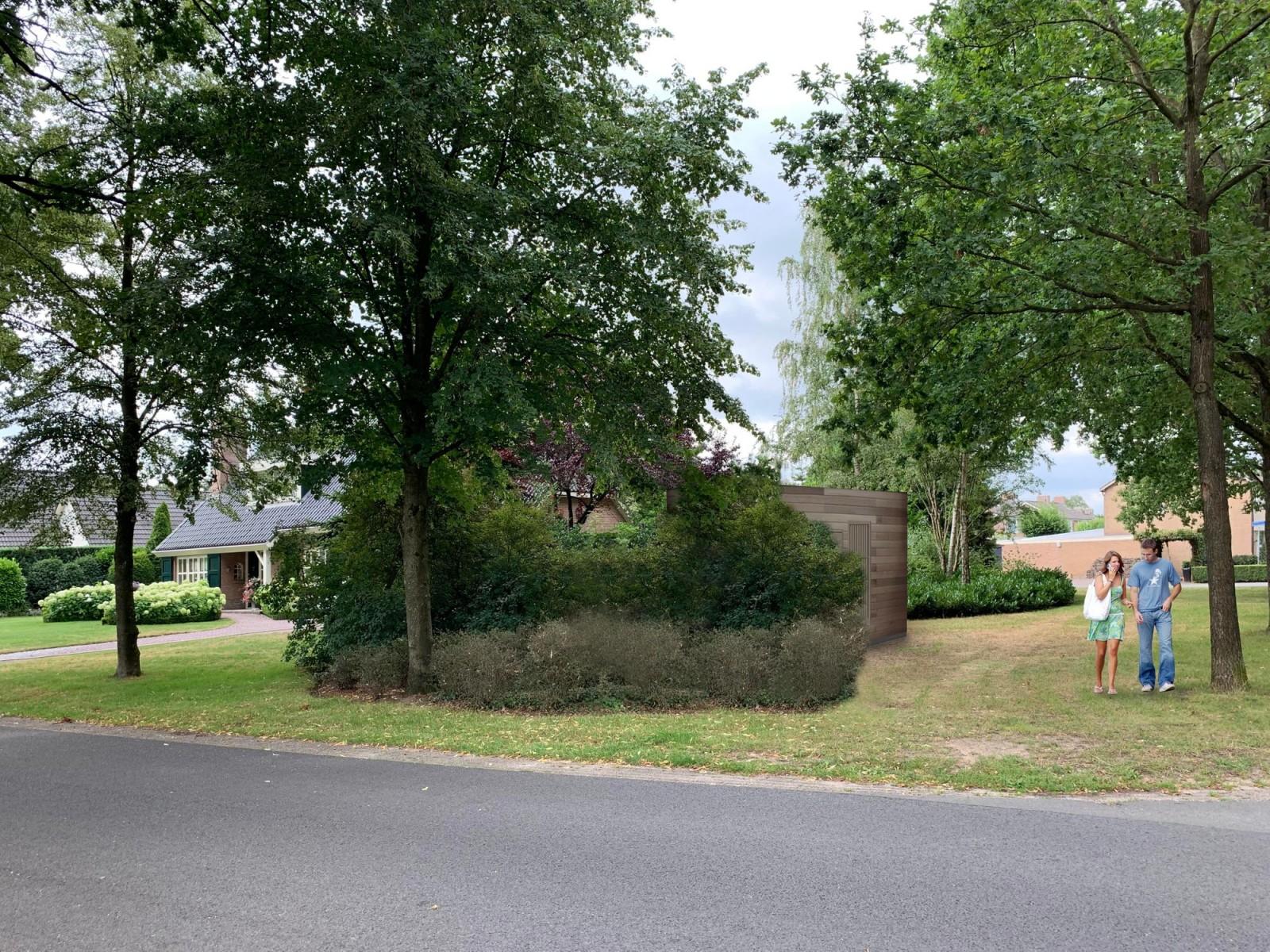 Foto straat met glasvezel-locatie