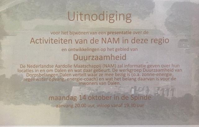 uitnodiging NAM
