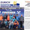 Foto CoDac-Leden bij de finish van de marathon in San Sebastian