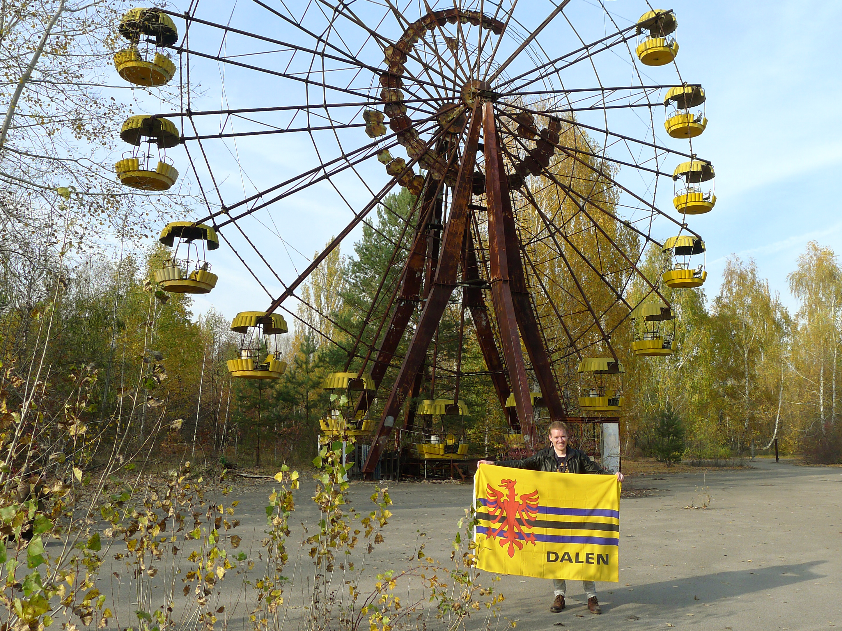 Foto Daler vlag in Tsjernobyl