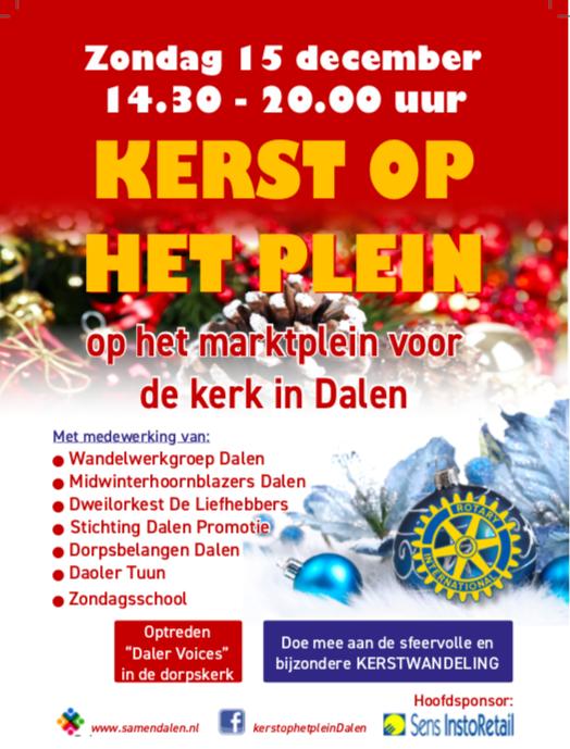 Flyer met programma Kerst op het Plein 2019