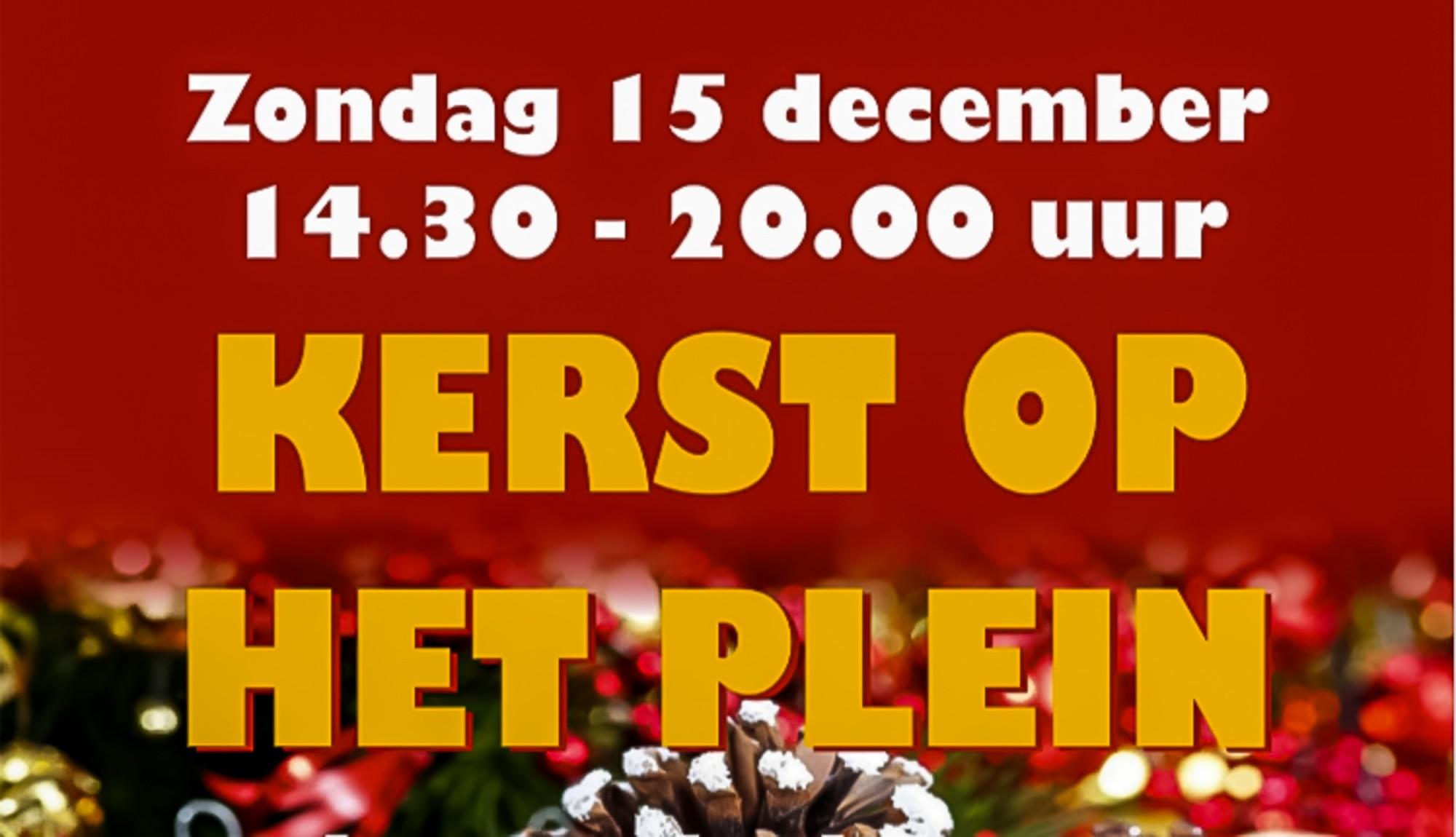 Afbeelding flyer aankondiging Kerst op het Plein