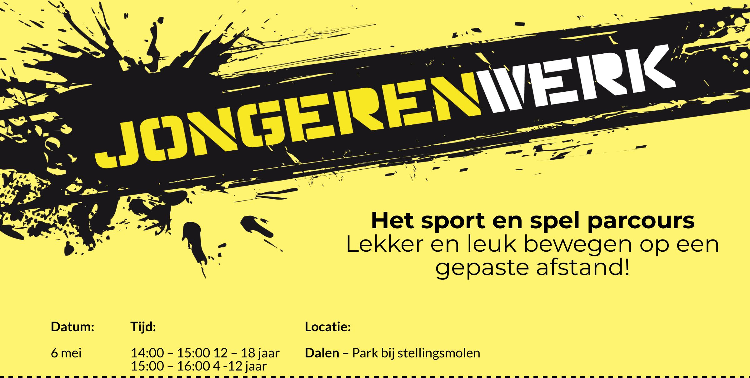 Flyer Sport en Spel Parcours Jongerenwerk