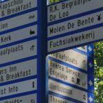 Foto toeristische wegwijzer centrum Dalen
