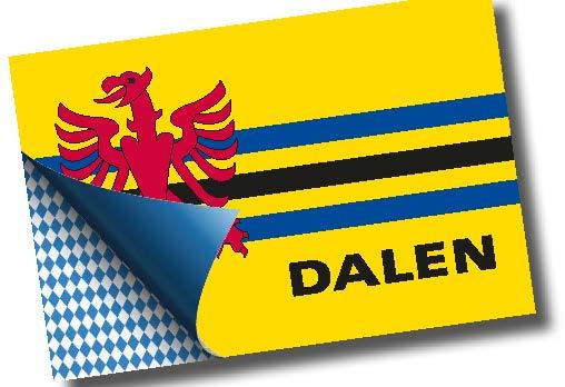 Sticker vlag Dalen