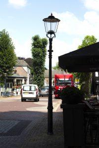 Foto nieuwe lantaarnpalen centrum Dalen