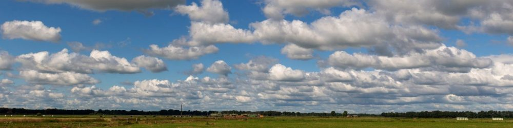 Foto zomer met luchten bij Dalen