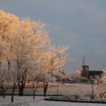 Winterfoto molen De Bente