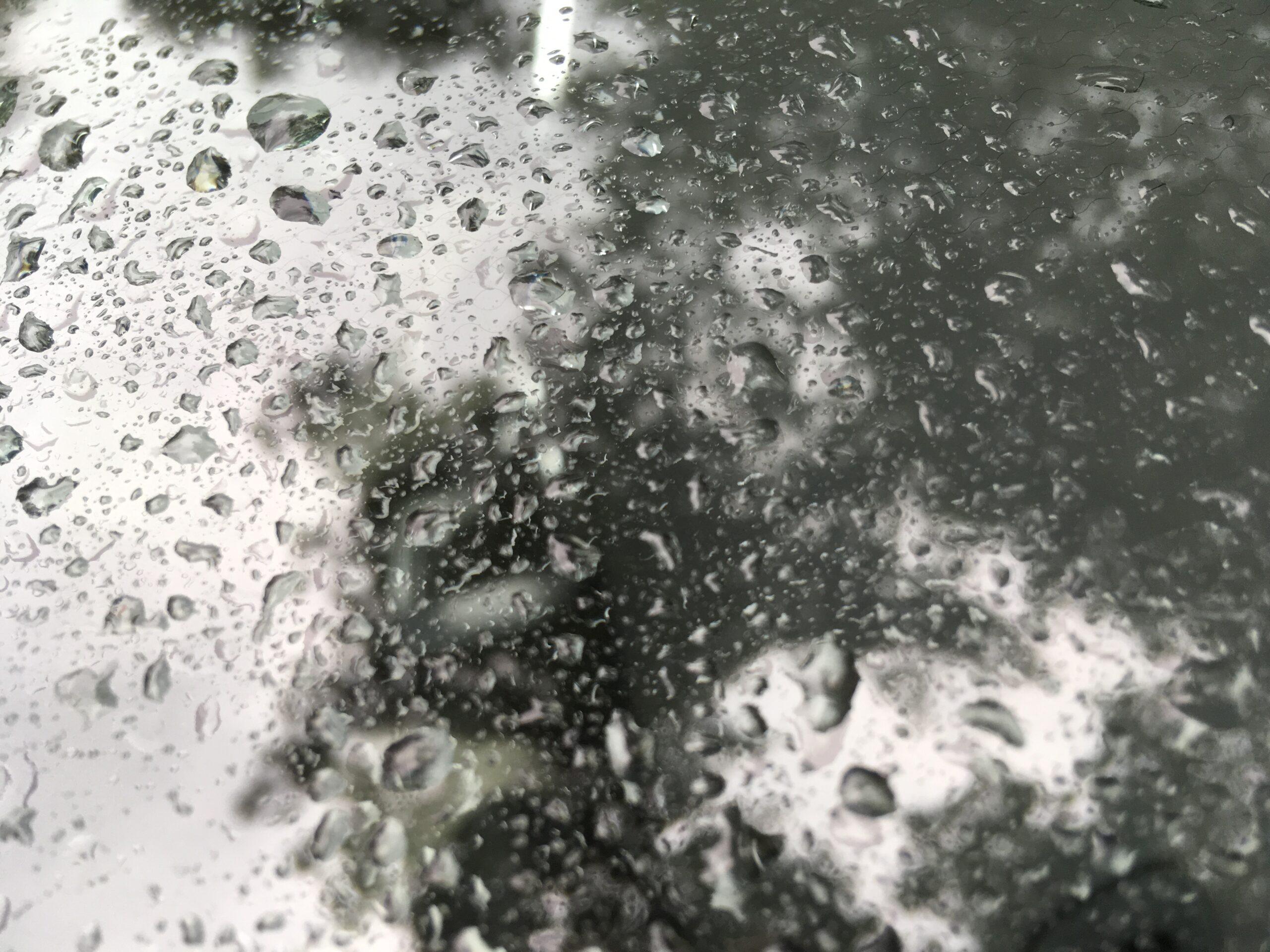 Foto regendruppels